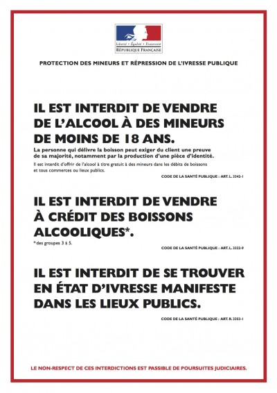 Interdiction mineurs vente à emporter