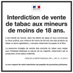 Interdiction vente tabac aux mineurs