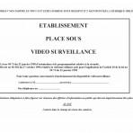 Etablissement placé sous vidéo surveillance A4/A5